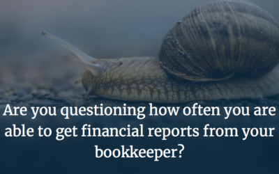 Are you questioning how often you are able to get financial reports from your bookkeeper?
