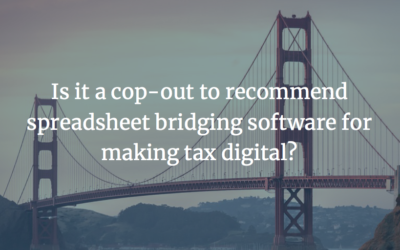 Is it a cop-out to recommend spreadsheet bridging software for making tax digital?